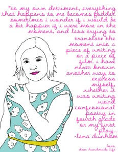 lena-dunham-quote-drawing-sketch-dress-flower-791x1024