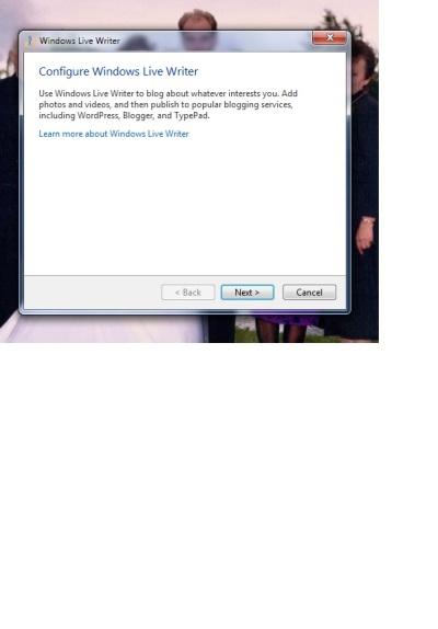 Configure Windows Live Writer