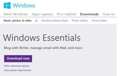 Window Live Writer - Window Essentials