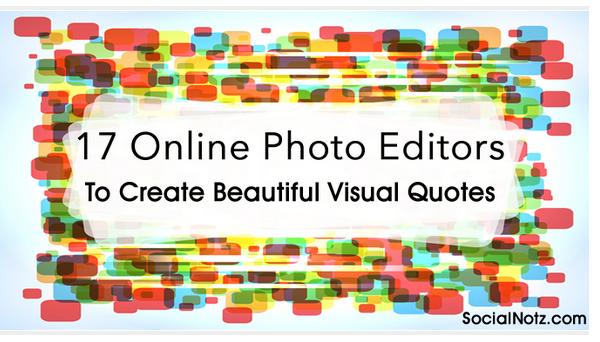 Online Photo Editors to create quotes