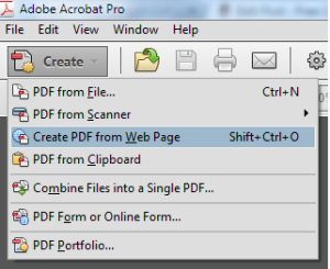 Create PDF from Web Page