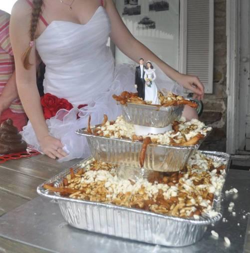 Poutine Wedding Cake