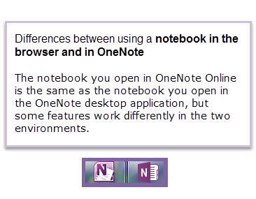 OneNote and OneNote in browser